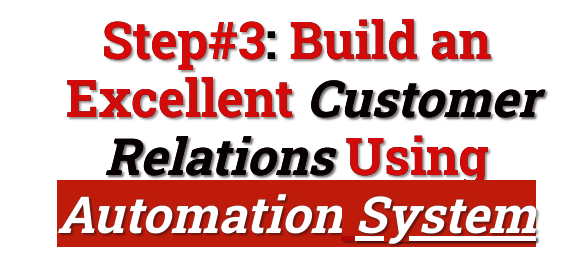 build a customer relations